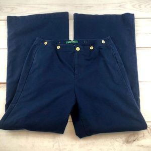 Ralph Lauren Navy Wide Leg Pants Size 6 (#131)